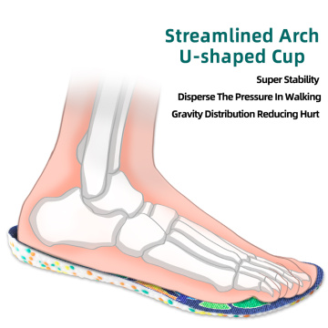 Orthotic and arch support E-TPU sport shoe insole