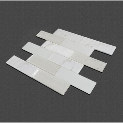 White jade elegant simple hot melt tiles