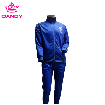 New fashion school blue training tracksuit