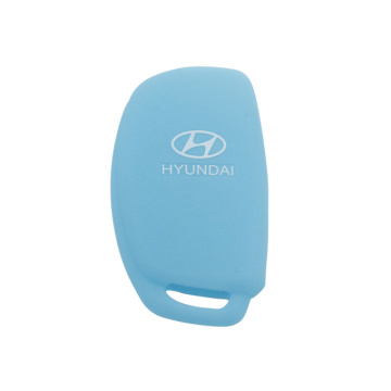 Hyundai silicon key case 3 buttons with logo