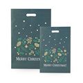Christmas Green Die Cut Cloth Shopping Bag