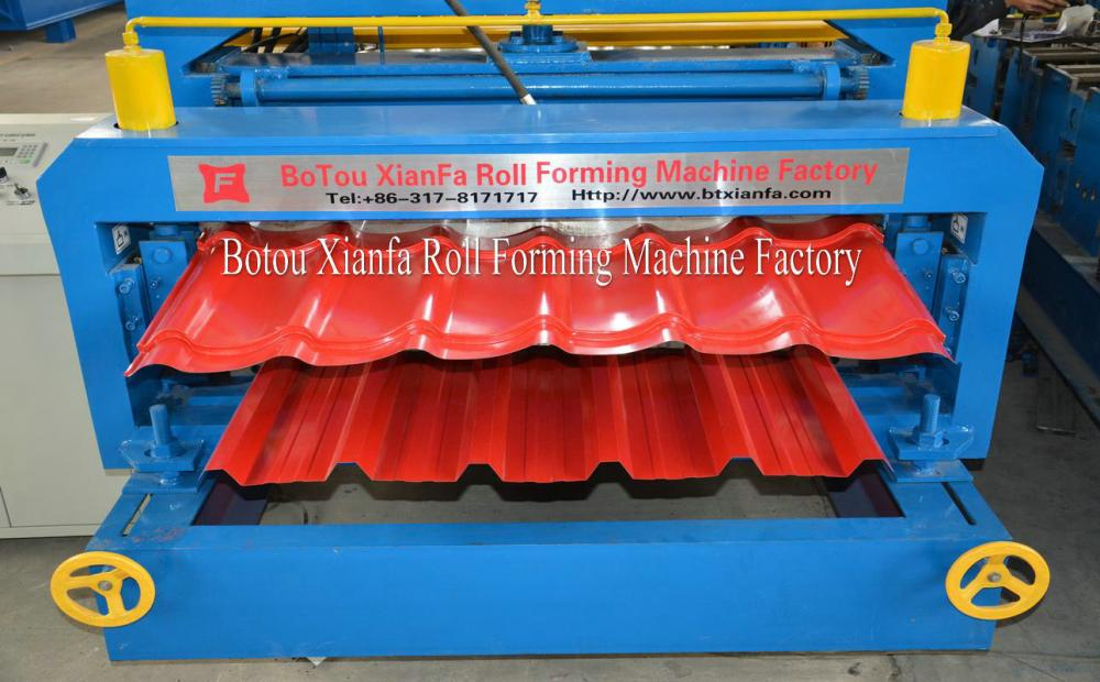 Salable Steel Double roof tile machine