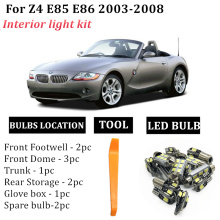 10x LED Bulbs Interior Lights Kit For 2003-2008 BMW Z4 E85 E86 Map Dome Trunk Light LED Lamps Direct Replacement car Stock