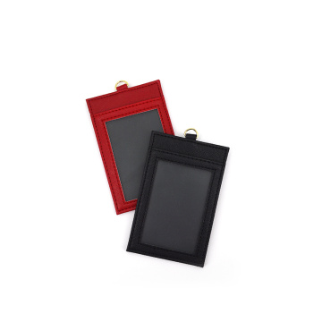 High Quality Custom Leather ID Card Badge Holder