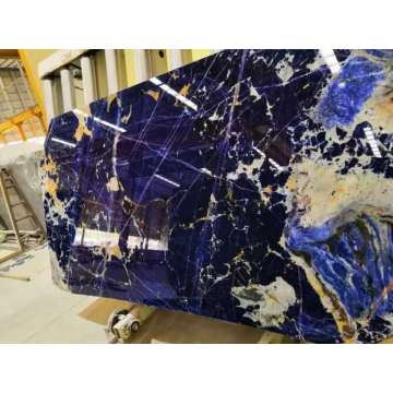 Super blue sodalite slabs