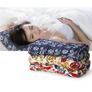 Full buckwheat pillow Traditional cotton coarse cloth pillowcase Neck health care cervical single buckwheat leather pillow
