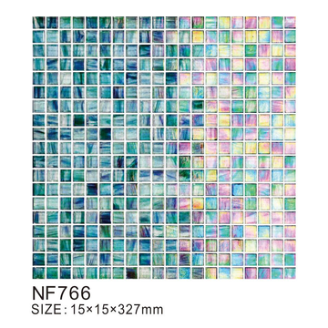 Ice crystal series translucent glass mosaic tiles