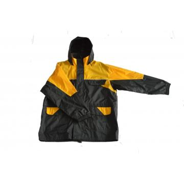 Fashion Adult Eco-Friendly Hooded Long Rain jacket