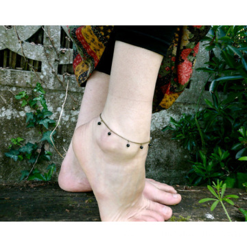 Gypsy Style Summer Black Beads Anklets Cheap Ankle Bracelets