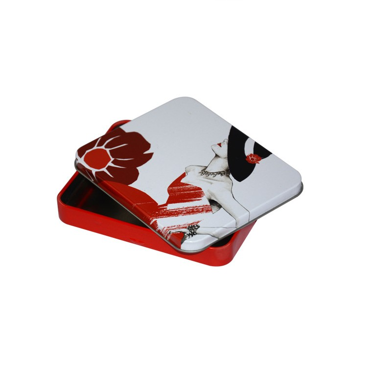 Custom Design Rectangular Cigarette Tin Box