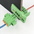 3 pin spring through wall plug-in terminal block