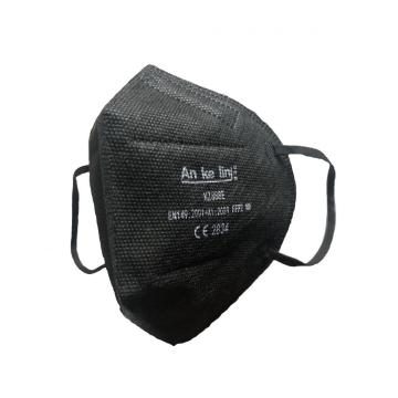 Black reusable particulate half face mask
