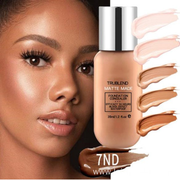 Long lasting full effect natural makeup foundation