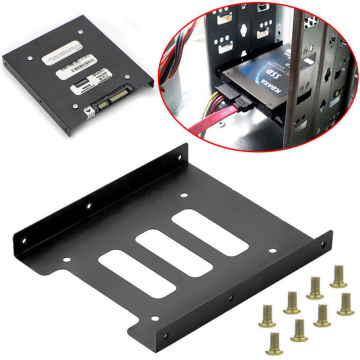 Useful 2.5 Inch SSD HDD To 3.5 Inch Metal Mounting Adapter Bracket Dock Screw Hard Drive Holder For PC Hard Drive Enclosure