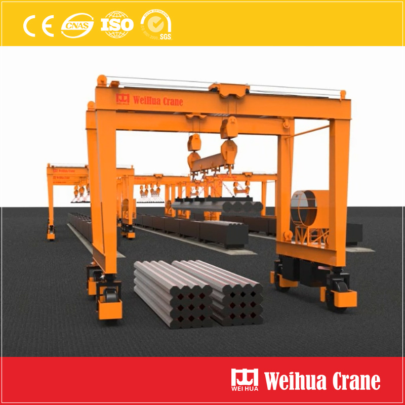 Rubber Tyred Gantry Crane Steel Pipe