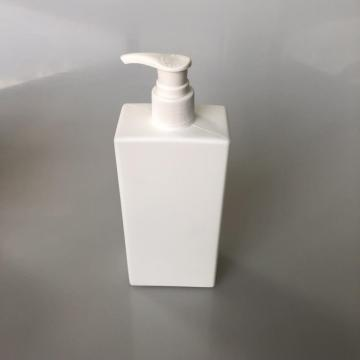 220ml white HDPE square bottle with lotion pump