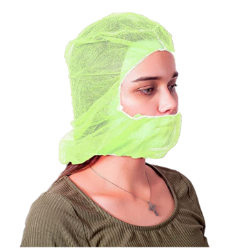 Non Woven Hoods with Elastic Closure