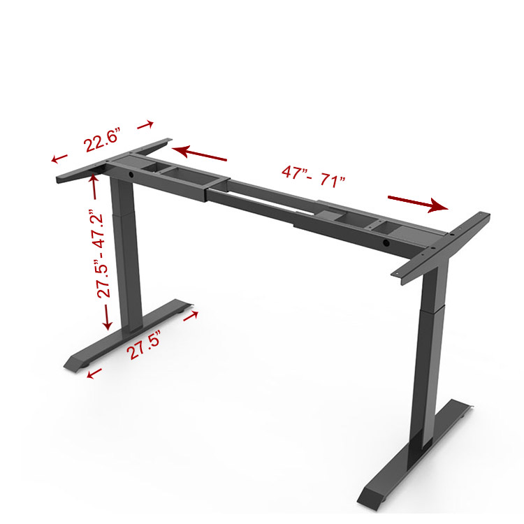 Egronomic Study Workstation Height Electric Adjustable Table