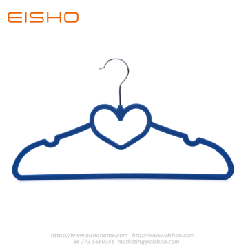 Ultral Thin Blue Heart-shape Velvet Shirt Hanger FV005-42