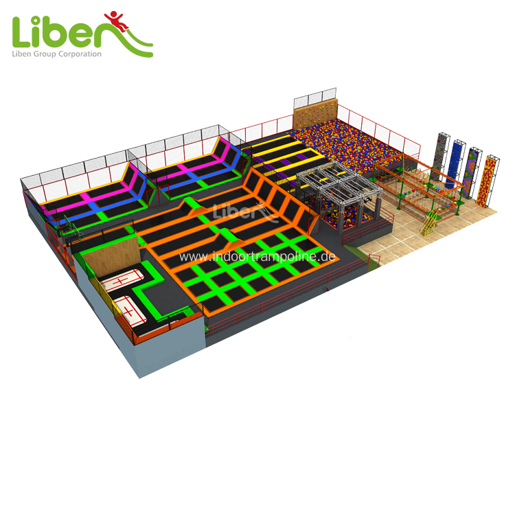High quality indoor sport trampoline park for kids
