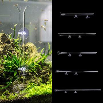 Shrimp Feeding Food Tube with 2X Suction Cup, Glass Feeder Feeding for Aquarium Fish Tank 25/30/35/40/45cm Length
