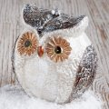 Customized Christmas Owl Glass Blown Ornaments for Christmas Tree