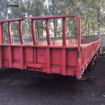 Used Grid Position Flatbed Truck Trailer