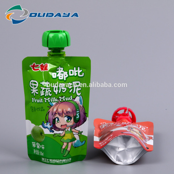 Plastic Standup Pouch with Spout Packing Fruit Milk