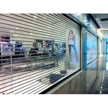 Kommerzieller transparenter Crystal Shutter Rolling Up Door
