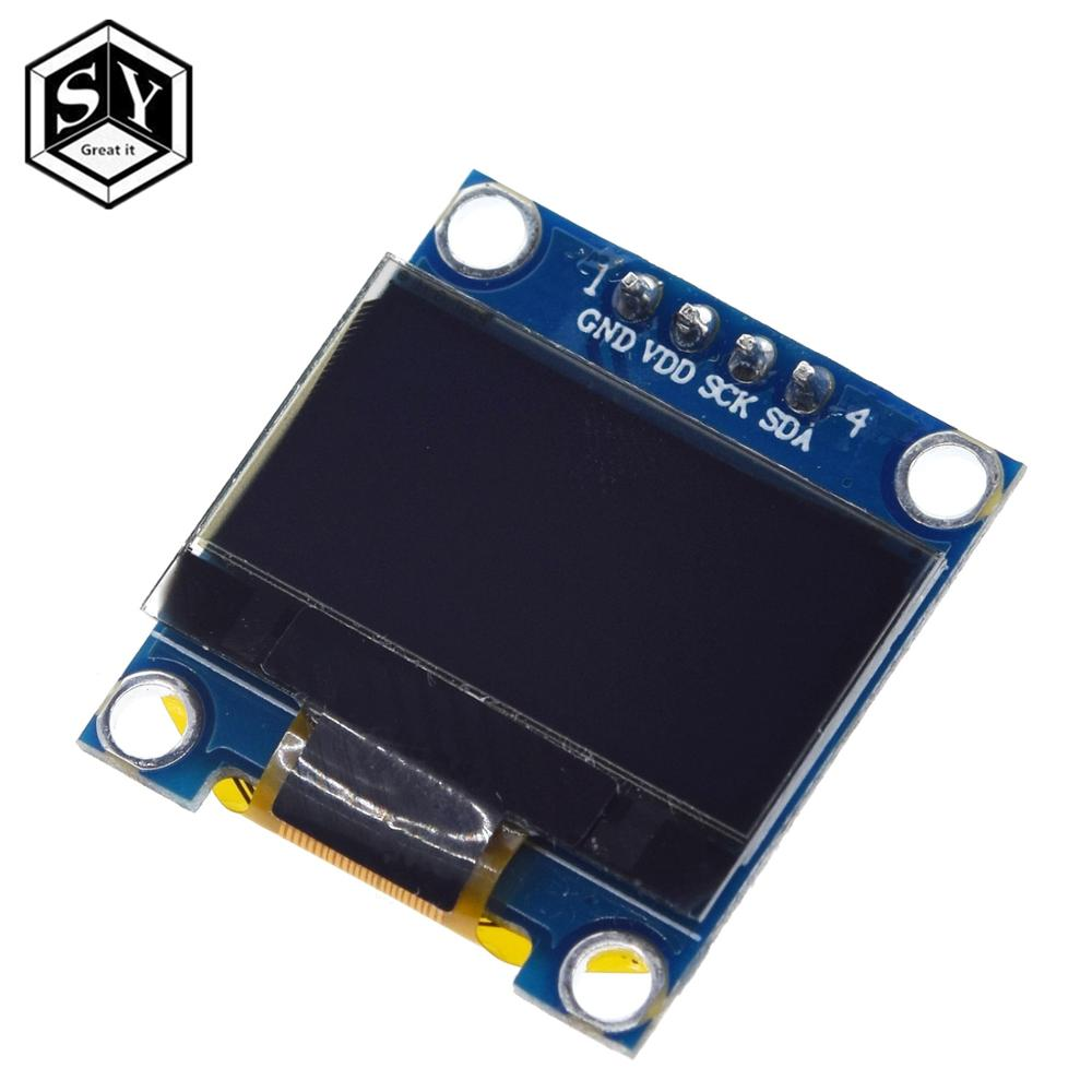0.96 inch IIC Serial Yellow Blue OLED Display Module 128X64 I2C SSD1306 12864 LCD Screen Board GND VCC SCL SDA for arduino