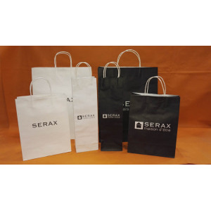 White kraft paper bag-serax