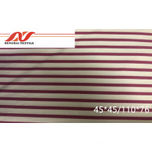 CVC stripe fabric 60/40 45*45/110*76 57/58 105-110gsm