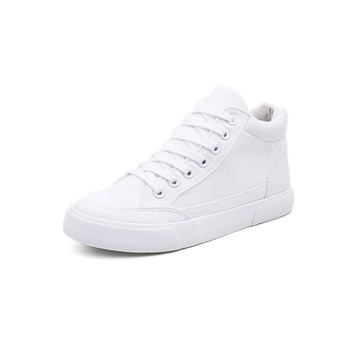 White Mid Top Canvas Shoes Women