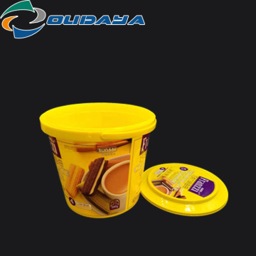 5L plastic storage cookie  container with handle