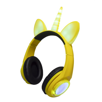 Cute oem mp3 player berwayar fon kepala stereo
