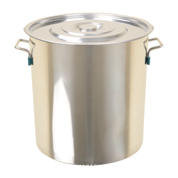 Oblique Style Stainless Steel Soup Pot