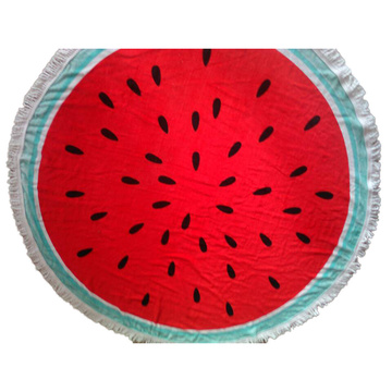 custom cotton beach towel round