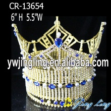Gold Plate Beauty Queen Pearl Full Round Crown