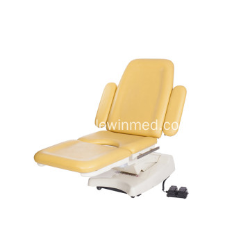 Foot control switch obstetric bed