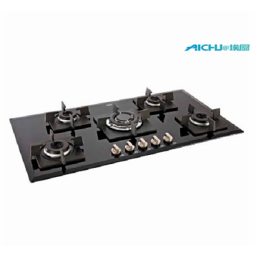 Glen 5 Burners Built-in Black Glass Hob