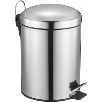 Stainless Steel Round Shape Pedal bin