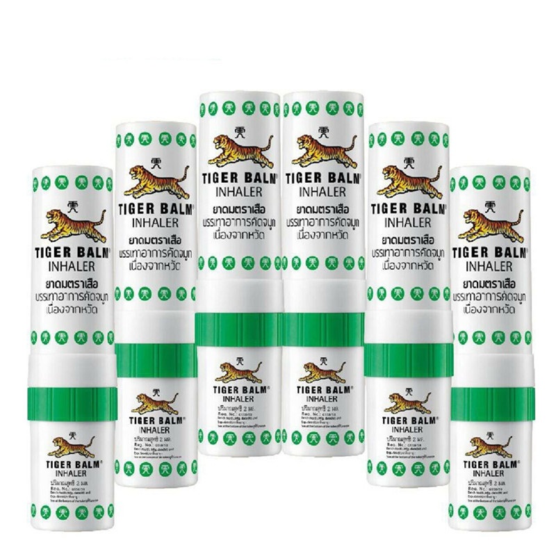 First Aid Tools 6x Tiger Balm Inhaler Pocket Herbal Relax Relieve Nasal Congestion Dizziness