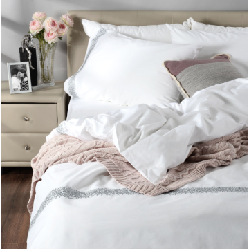 Embroidered duvet cover set