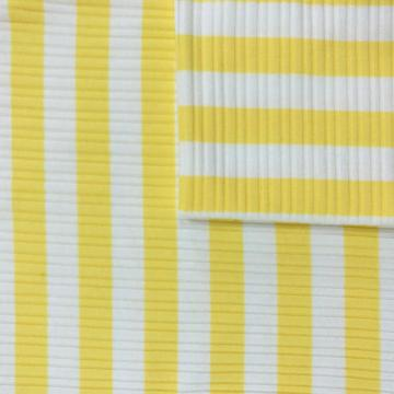 TC Cotton Polyester Brushed Rib Striped Spandex Fabrics