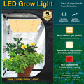 Sunlike 150W led grow panel light Full Spectrum