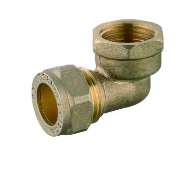 brass female threaded elbow compression fitting