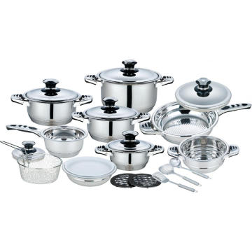21 Pieces Stainless Steel Wide Edge Cookware Set