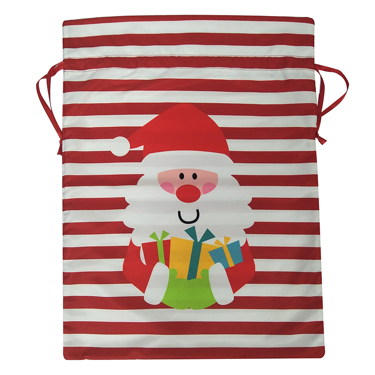 Large Christmas Printed Santa Claus Sack