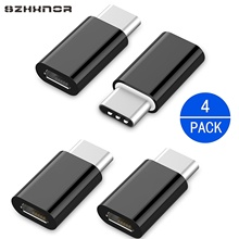 4PC Type C Male To Micro USB Female Charger Adapter Converter For SAMSUNG GALAXY S10 A30S A51 A50 A71 A70 Wileyfox Swift 2 Plus