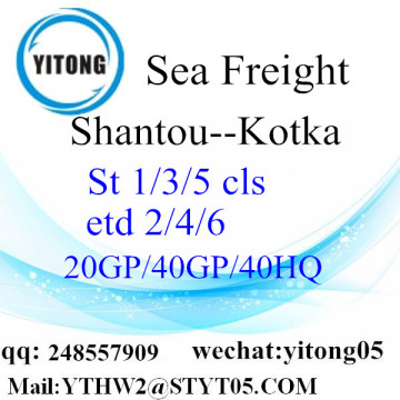 Shantou Container shipping to Kotka